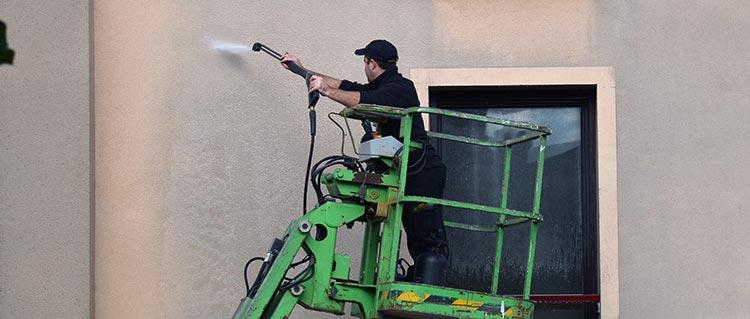 nettoyage façade à Grigny